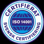 CERTIFIERAT ISO 14001 SVENSK CERTIFIERING